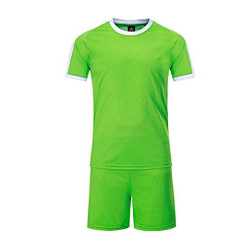郵便物アラブサラボ地域Aiweijia メンズ?レディースサッカーウェアショートスリーブランニングムーブメントシャツとショートパンツとコンペティション?トレーニング?ジャージー