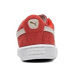 PUMA Suede JR Classic Kids Sneaker (Little Kid/ Big Kid), High Risk Red/White, 12 M US Little Kid