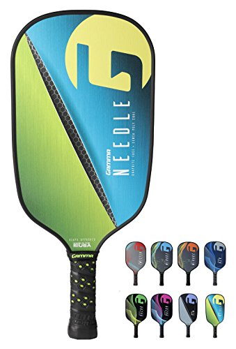 Play Needle (Gamma Sports GAMMA Needle Elongated Pickleball Paddle: Pickle Ball Paddles for Indoor & Outdoor Play - USAPA Approved Racquet for Adults & Kids - Pink/Blue)
