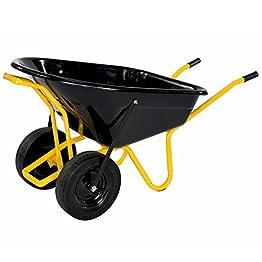 pro-bau-tec Doppelrad Schubkarre Twin mit PU Rädern