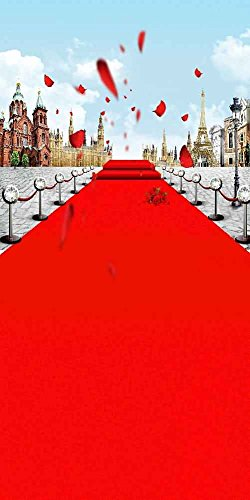 GladsBuy Flowery Red Carpet 10' x 20' Digital Printed Photography Backdrop Stage Carpet Theme Background YHB-008 by GladsBuy