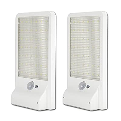 500 Lumens Outdoor Led Solar Light - YES Clean Energy 42 Led Outdoor Motion Sensor Led Solar Light Waterproof Security Solar Lights Patio Light Wall Light[2 Pack]
