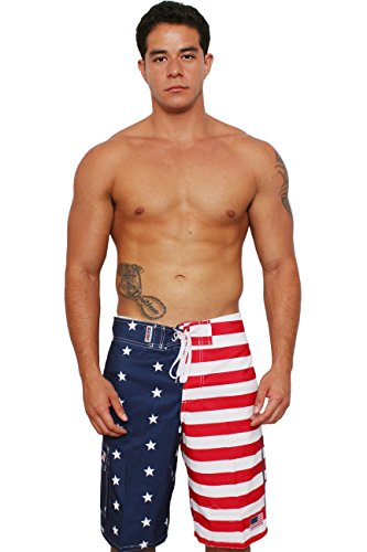 American Independence Day Birthday Patriotic 4TH Happy July Teen Swim Trunks Bathing Suit Shorts Board Beach