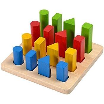 Plan Toy Geometric Peg Board