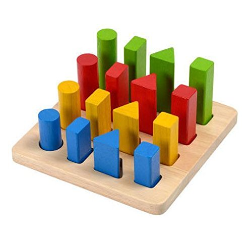 Plan Toy Geometric Peg Board (Plan Toys Shape)