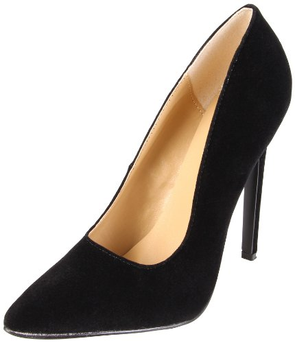 The Highest Heel Women's Hottie Stiletto,Black Kid Velvet,14 M (The Highest Heels)