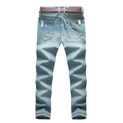 Azul de Vaqueros Pantalones Moda Oudan de Hombres de Primavera Regular Comodidad Fit Ajustados Pantalones Vaqueros Alta los Vaqueros óptimo los la de Pantalones Hombres Ajuste SPPxFAn