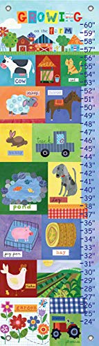 Oopsy Daisy Fine Art for Kids Growth Chart Growing On The Farm by Jill McDonald, - Kids For Art Chart Growth