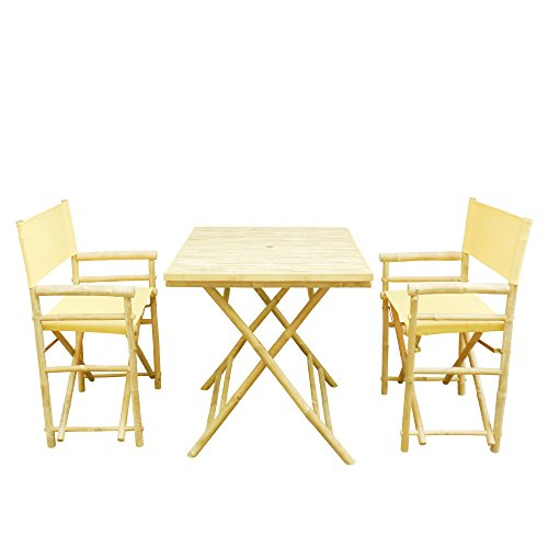 Phat Tommy Indoor & Outdoor Foldable Bistro Set with Squa...