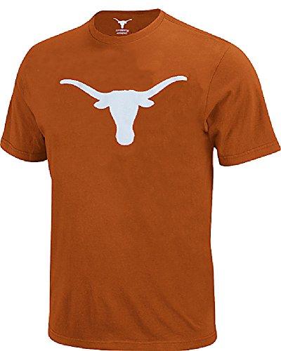 289c Texas Longhorns Mens TX Orange Silhouette Short Sleeve Tee Shirt by Apparel (Small) ()