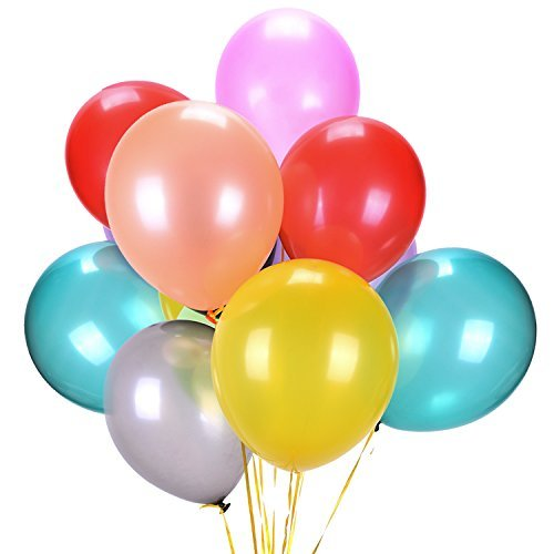 Latex Balloons Assorted Color Party Balloons Bulk (160 PCs) 12 Inches Party Supply Thick Premium Quality Decorations for Birthday, Carnival Festival, Ceremony