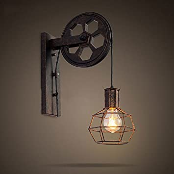Ww pwne loft wall lamp creative lifting pulley wall light ww pwne loft wall lamp creative lifting pulley wall light personality dining room restaurant corridor pub aloadofball Image collections