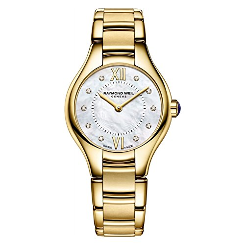 (Raymond Weil Noemia MOP Dial Gold-Tone SS Quartz Ladies Watch 5124-P-00985)