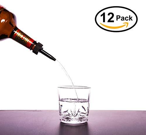 Every Last Drop Liquor Pour Spout 12 Pack  Patented Leak Proof Seal  Designed to Fit Threaded Liquor