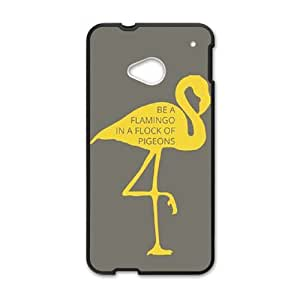 Be A Flamingo In A Flock Of Pigeons HTC One M7 Cell Phone Case Black present pp001_9677666