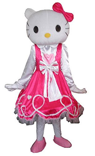2 Little Costume Mermaid Melody (JWUP Adult Size Pink Hello Kitty Mascot Costume Cartoon Character Costume for Christmas)