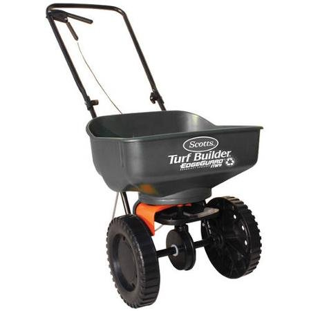 Drop Spreader Lawn (Scotts Turf Builder EdgeGuard Mini Broadcast Spreader (Holds up to 5,000 sq ft))