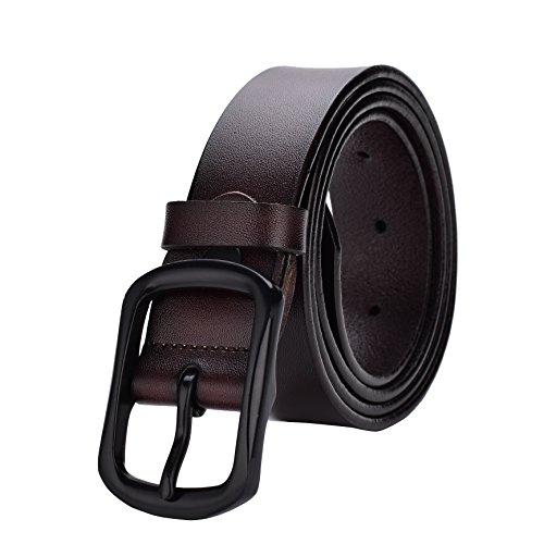 Radmire Womens Leather Casual Belt for Jeans Black and Brown