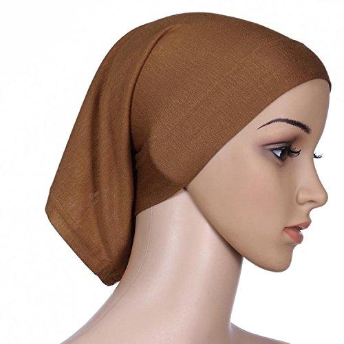 Islamic Light Cotton Sheer Color Elastic Sun Tube Caps Cook Clean Head Wrap Headband