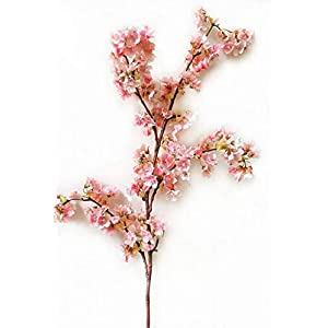 Ahvoler Artificial Cherry Blossom Branches Flowers Stems Silk Tall Fake Flower Arrangements Home Wedding Decoration,39 Inch 3