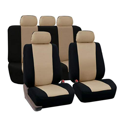 YZ-YUAN Car Seat Cover Sets Universal Water Resistant Covers,Auto Interior Accessories,Brown