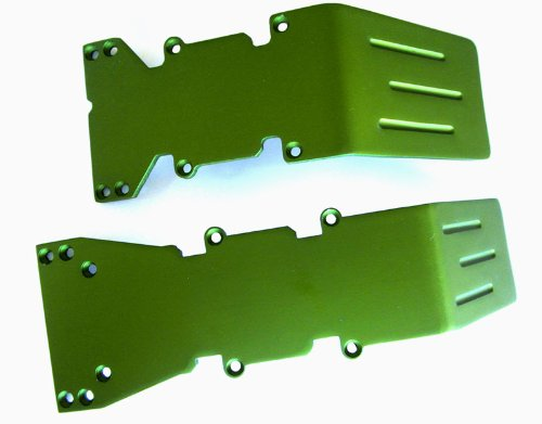 RC Raven T-Maxx and E-Maxx Olive Green Anodized Skid Plate Set ()