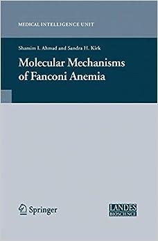 Book Molecular Mechanisms of Fanconi Anemia (Medical Intelligence Unit)