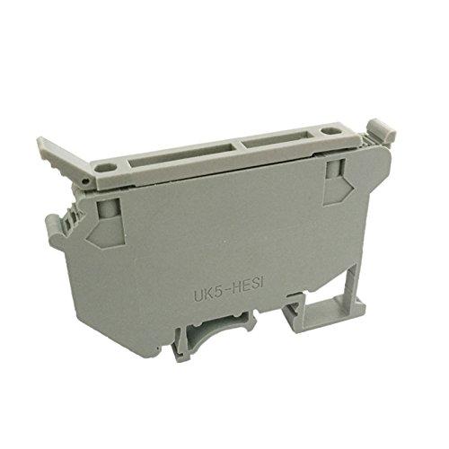 Suyep Contact Type UK 600VAC 4mm Grey Fuse Modular Terminal Block UK5-HESI (50)