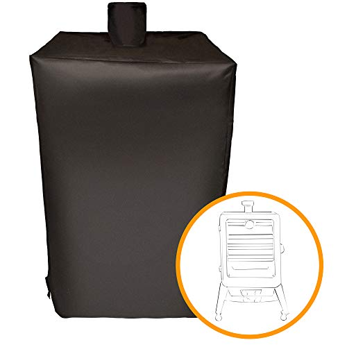 Black Fabric Boss (i COVER Smoker Cover- Sized for Pit Boss Grills 77550 5.5 and 5-Series Vertical Pellet Smokers,Waterproof, Heavy Duty Water Proof Patio Outdoor Canvas Vertical Smoker Cover,Black, G21625)