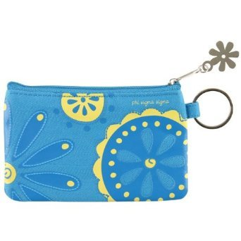 Phi Sigma Sigma - ID Coin Purse and Keyring