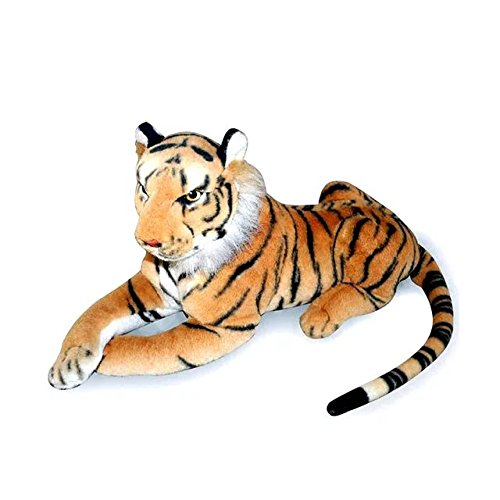 KateDy Stuffed Animal Tiger Plush Toy for Baby Kids Adults,Cute Cat Stuff Toy Wild Animals Shadow Plushie Tiger 12