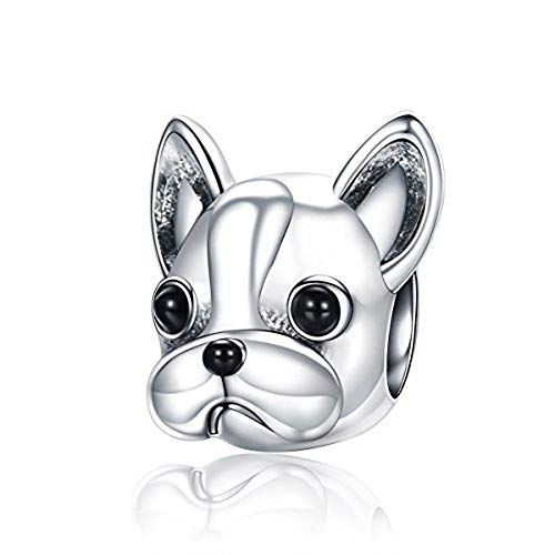 (Lucky Animals Head Charm Authentic 925 Sterling Silver Pet Charms for European Bracelet (dog) )