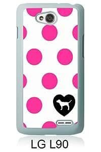Victoria's Secret Love Pink 22 White Fashion Design Customized Picture LG L90 Case