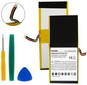 Rechargeable Ultra High Capacity TLP-040 Li-Pol Battery - Replacement For BARNES AND NOBLE NOOK HD Tablet Battery Li-Pol 3.65V 6000mAh