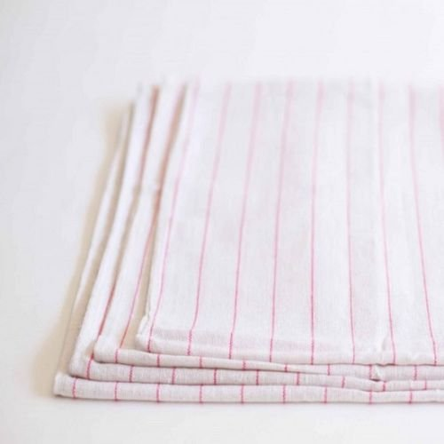 Globe House Products GHP 60-Pcs 100% Cotton Red Multi Stripes Industrial Dish Glass Flour Sack Towels by Globe House Products