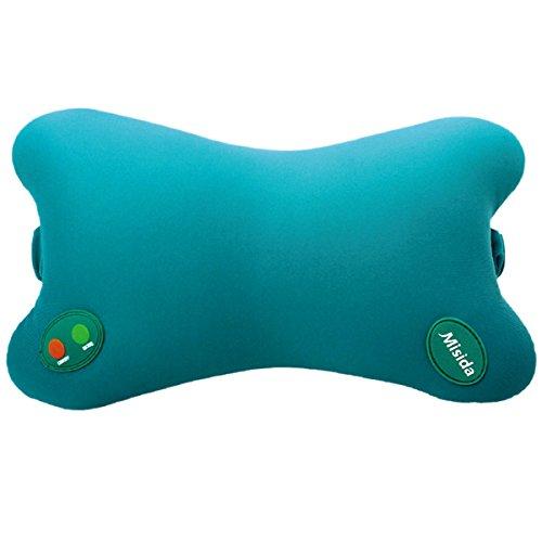 Romantic Bear 4 Methods Electric Massage Pillow for Neck,Kneading,Shiatsu,Pushing,Rapping,Battery Powered,Green,335g