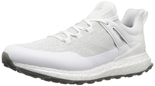 adidas Golf Men's Crossknit Boost Golf Shoe, White/Silver/Black-Summer White Special Edition, 9 Medium US