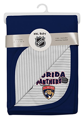 Outerstuff NHL Florida Panthers Layette Newborn Lil Center Blanket, One Size, Cool Grey]()