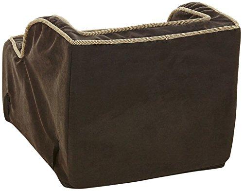 Snoozer High-Back Console Pet Car Seat, X-Large High Back, Black/Herringbone
