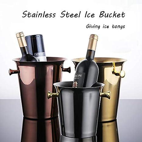 Amazon.com: Ice Bucket, with Handle Tongs High Capacity Beer ...