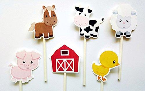 Farm-Animal-CUPCAKE-TOPPERS