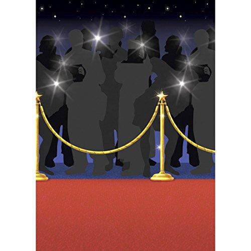 NET TOYS Décoration Hollywood Party Affiche Tapis Rouge 15 m Papier Peint Red Carpet Déco Murale VIP Thème Soirée VIP Papparazzi