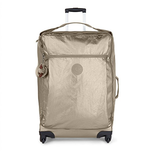 Kipling Women's Darcey Large Metallic Wheeled Luggage, Mttlcpwter by Kipling