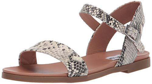 - Steve Madden Women's DINA Sandal, Natural Snake, 9.5 M US