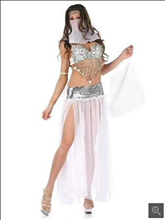 Sexy Lingerie Sequins Arab Belly Dance Costumes Make You More Charming White