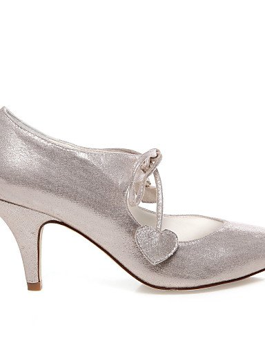 GGX/ Damen-Hochzeitsschuhe-Absätze-High Heels-Hochzeit / Kleid / Party & Festivität-Silber 3in-3 3/4in-ivory