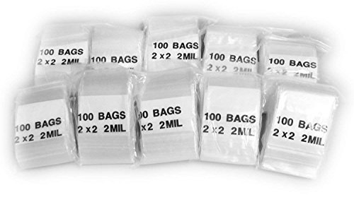 "iMBAPrice 1000 – (2"" x 2"") Clear Reclosable Zipper Bags, Total 1000 Bags"