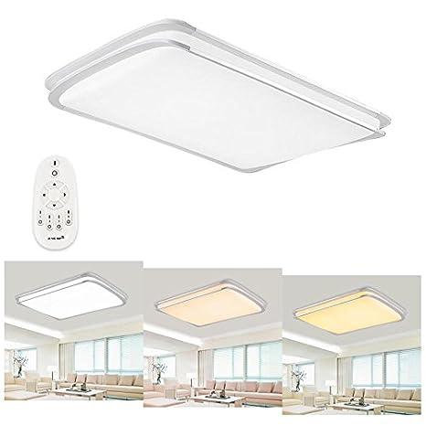 Hengda® 48W LED Lámpara de techo Moderna Regulable Luz De Techo Ultradelgado Ahorro Lámpara para sala de estar/Dormitorio/Baño/Cocina/Vestíbulo [Clase ...