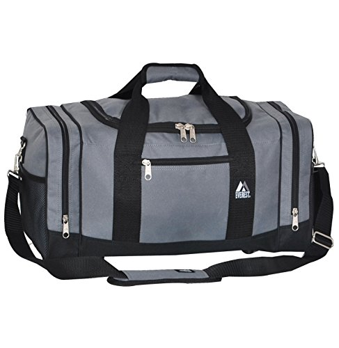 Everest Sporty Crossover Duffel Bag, Dark Gray, One Size