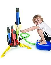 Errum Schuimraket, speelgoed, 6 opeenvolgende schuimrubberen raketten luchttraketen, nieuwe versie outdoor speelgoed tuin speelgoed voor kinderen